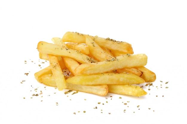 Batata frita ou batatas fritas isoladas