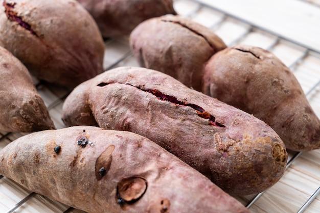 Batatas doces roxas