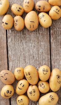 Batatas engraçadas