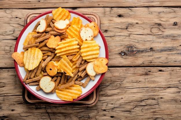 Batatas fritas crocantes