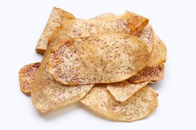 Batatas fritas de taro.