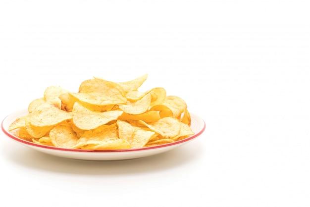 Batatas fritas em branco