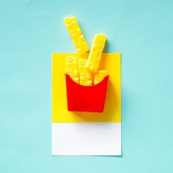 Batatas fritas fast food brinquedo