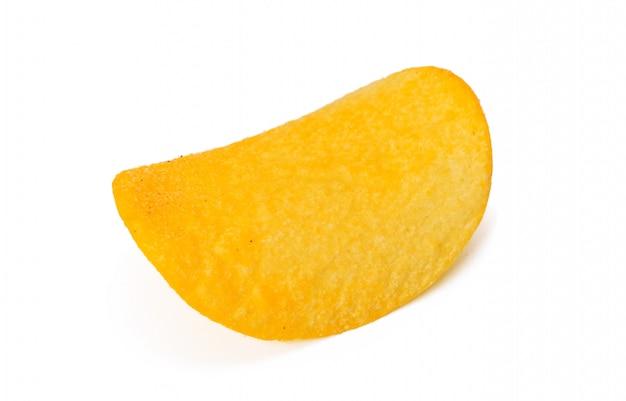 Batatas fritas, isoladas no fundo branco