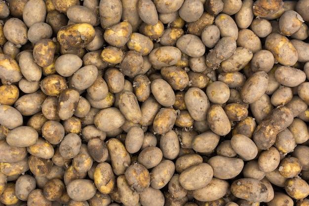 Batatas na antena do mercado