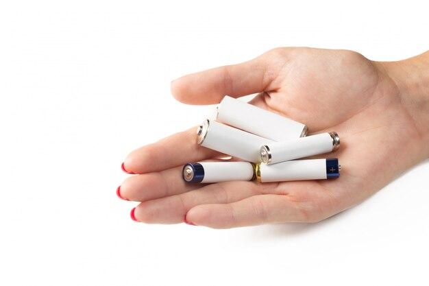 Baterias na mão