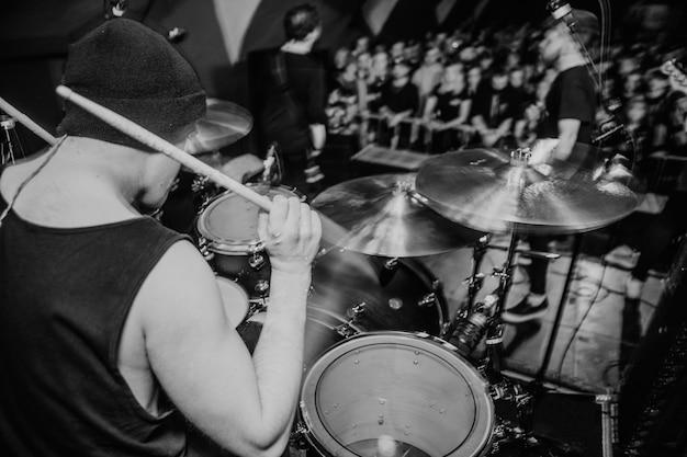 Baterista em show de rock