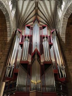 Bath, reino unido órgão da igreja na abbey church of st.peter e st.paul