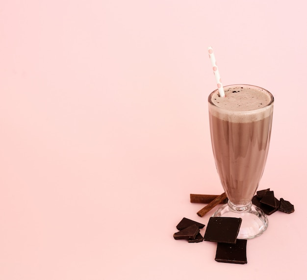 Batido com chocolate