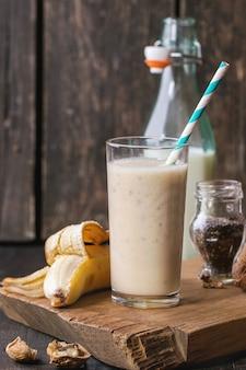 Batido de banana com leite
