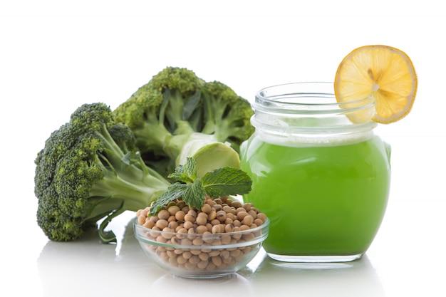 Batido de brócolis e soja