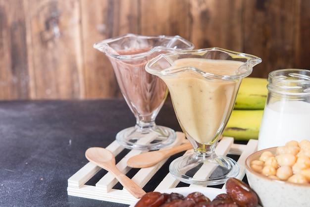 Batido de hummus (bebida vegana)