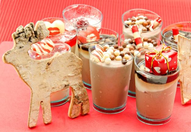 Batidos de chocolate com biscoito de rena