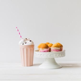 Batidos e muffins