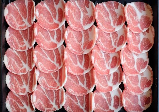 Bbq coreano carne de porco crua