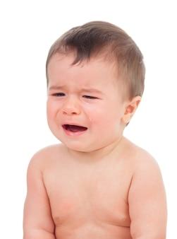 Bebê fofo chorando