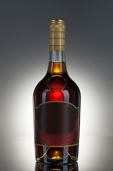 Bebida alcoólica em uma garrafa