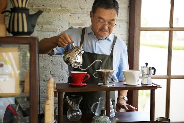 Bebida barista café cafeína bebida relaxamento