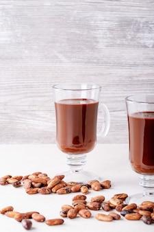 Bebida de chocolate quente caseiro