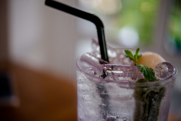 Bebida de vidro saudável