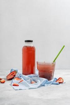 Bebida deliciosa de morango