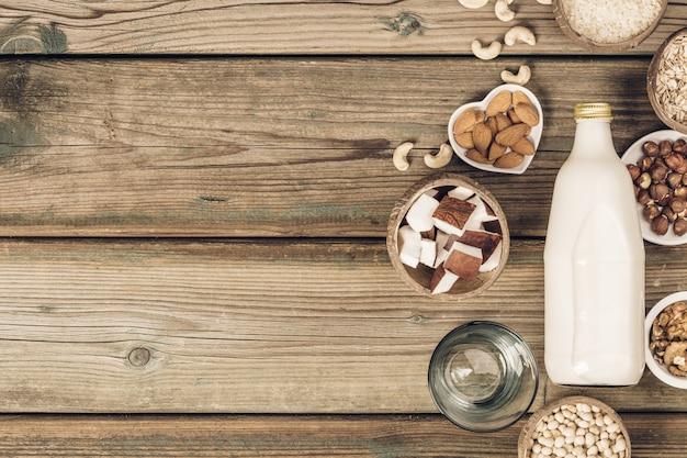Bebida e ingredientes substitutos do leite sem leite