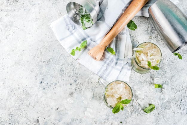 Bebida gelada, bebida cocktail de menta julep