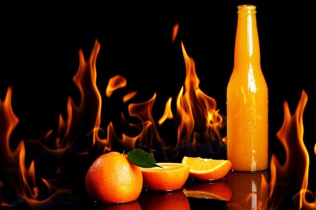 Bebida quente de laranja