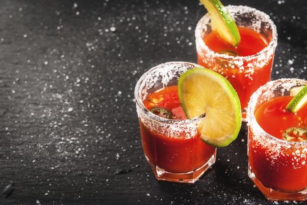 Bebida tradicional mexicana sangrita