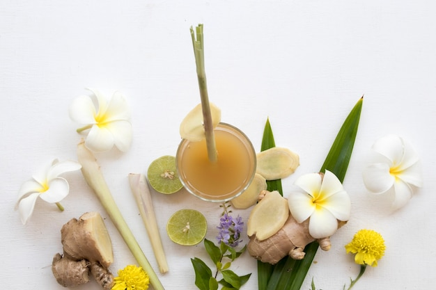 Bebidas à base de ervas de gengibre para cuidados de saúde