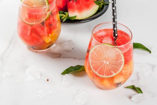 Bebidas de verão melancia