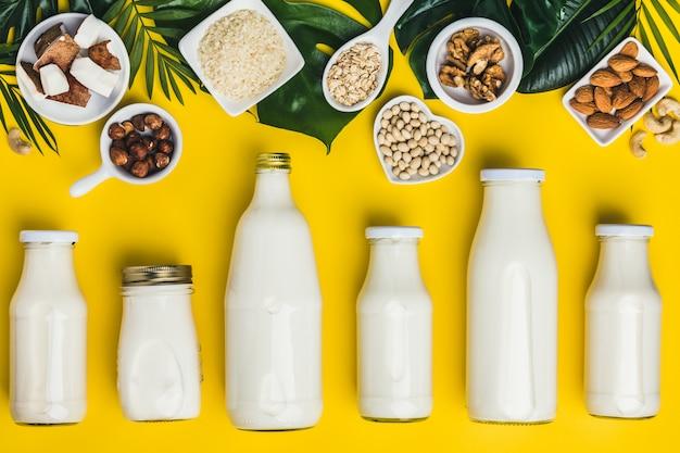 Bebidas e ingredientes substitutos do leite sem leite