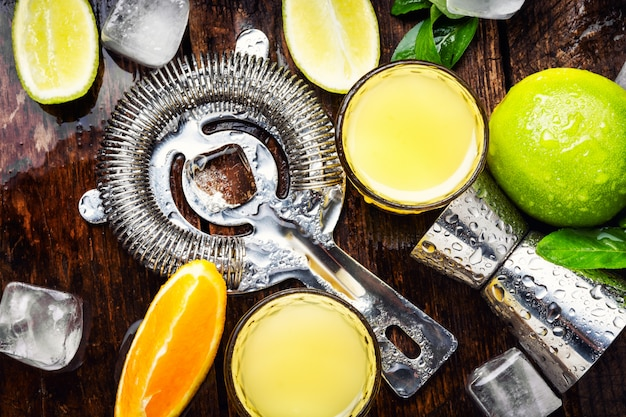 Bebidas frescas de coquetel