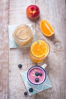 Bebidas saudáveis para o pequeno almoço