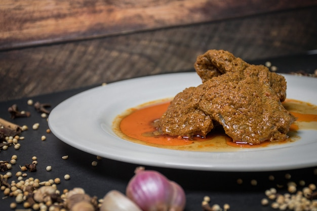 Beef rendang indonésio spicy beef rendang malaysia beef rendang