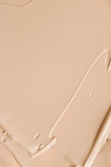 Bege cosmético textura fundo maquiagem e skincare cosméticos produto creme batom base ma ...