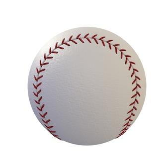 Beisebol isolado no fundo branco, renderização em 3d