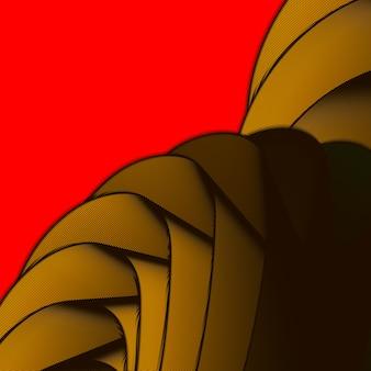 Bela abstração com gradientes em um fundo de cor. um lugar para texto, conteúdo abstrato para design. estilo de tecnologia futurista. ilustração de movimento.