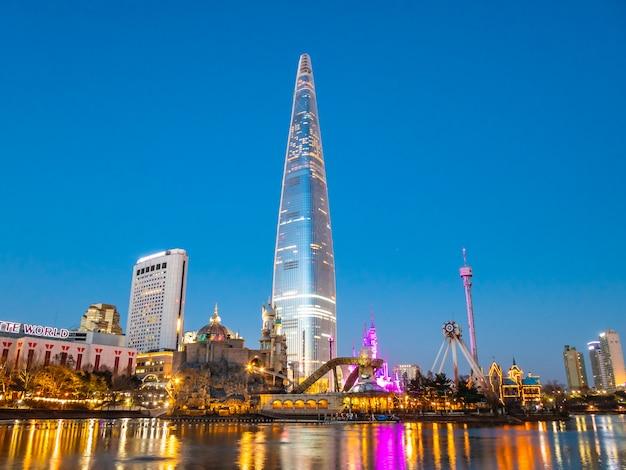 Bela arquitetura edifício torre lotte