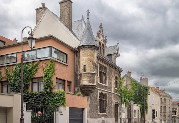 Bela arquitetura em reims, frança