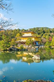 Bela arquitetura no templo de kinkakuji