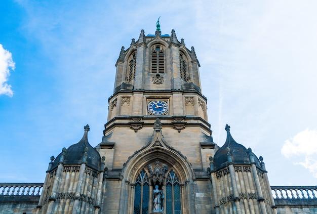 Bela arquitetura tom tower of christ church, universidade de oxford