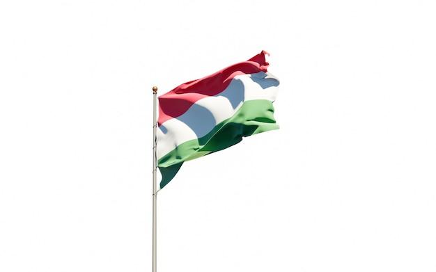 Bela bandeira do estado nacional da hungria tremulando