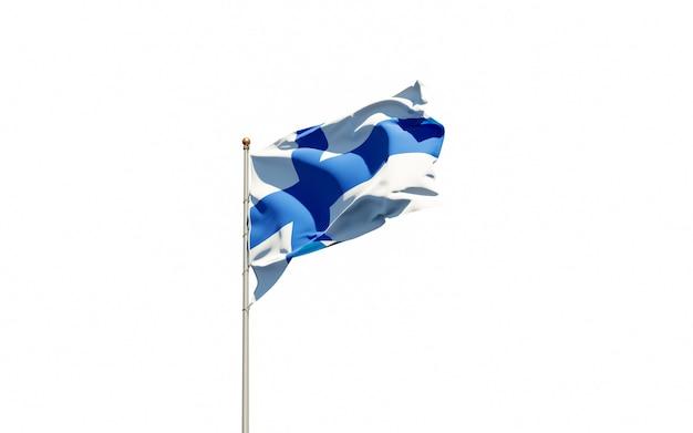 Bela bandeira nacional da finlândia