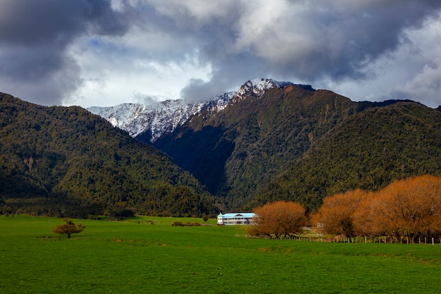 Bela cênica da costa oeste da região sul da nova zelândia