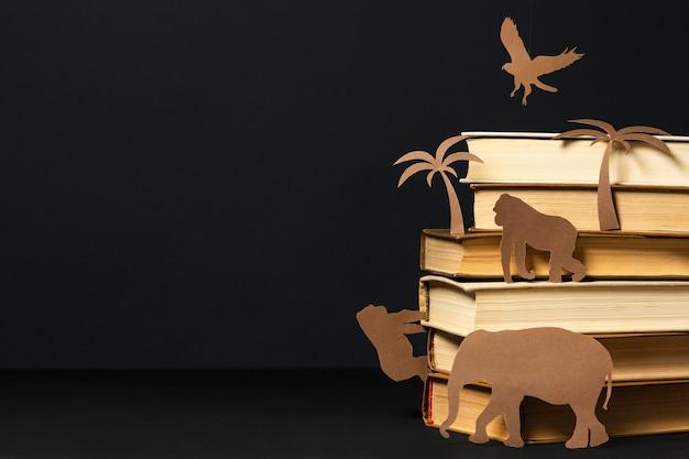 Bela composição de diferentes livros
