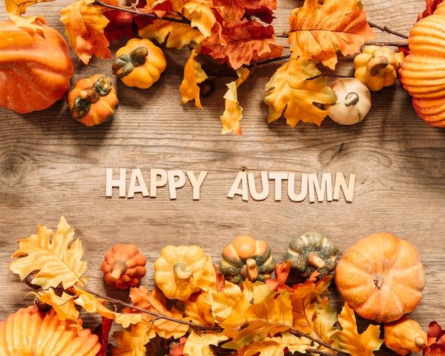 Bela composição de outono feliz