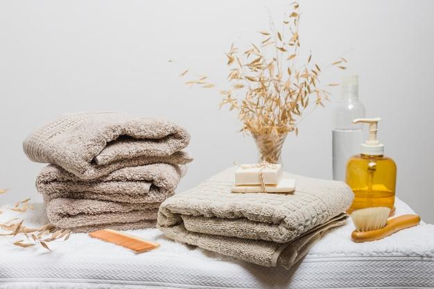 Bela composição para conceito de spa ou banho