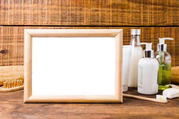 Bela composição para o conceito de spa ou banho com frame