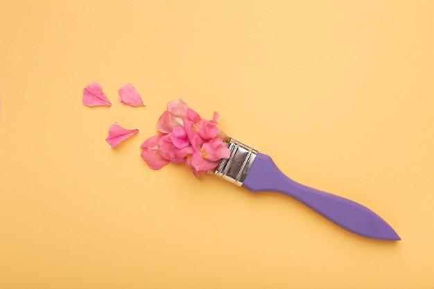 Bela composição plana de flores